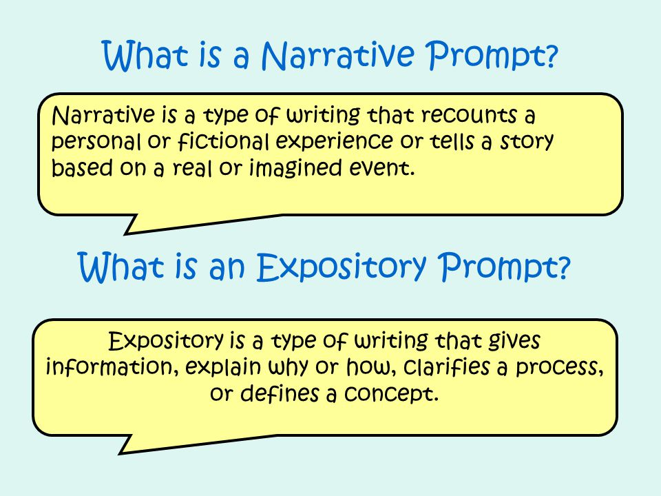 Expository is a type of writing that gives information, explain why or how, clarifies a process, or defines a concept. What is an Expository Prompt? W