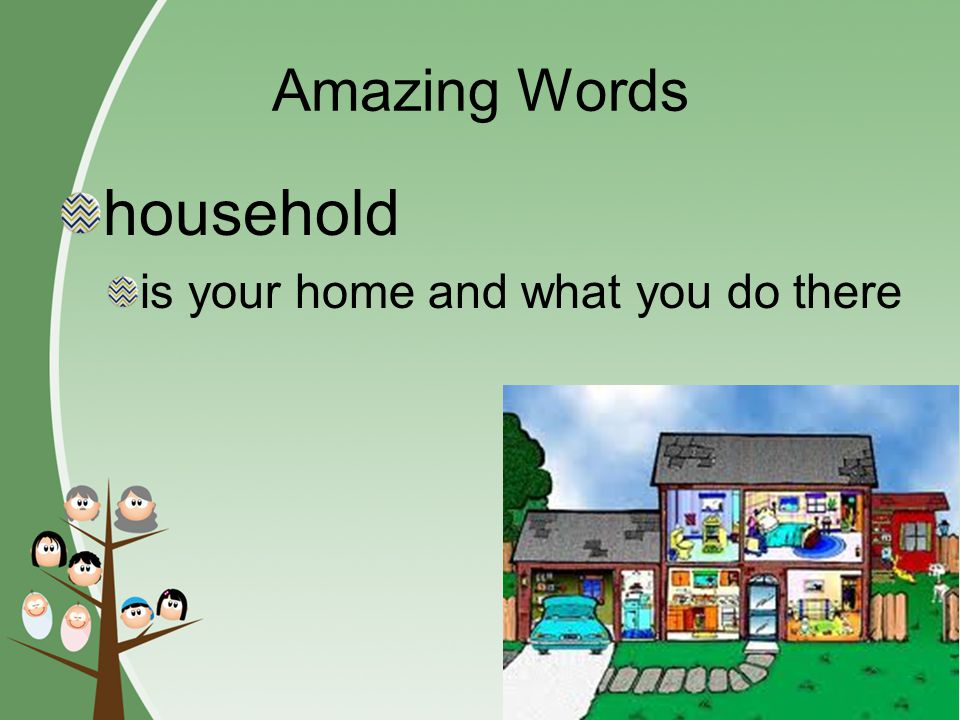 Amazing Words chore household cooperation rule