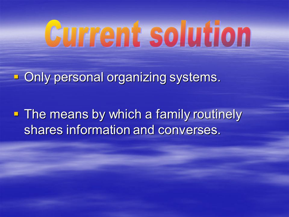  Only personal organizing systems.