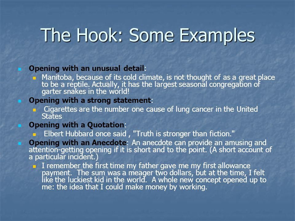 college essay hook examples