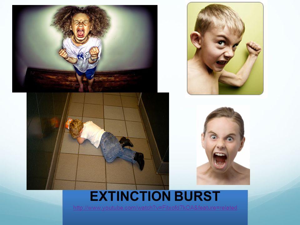 EXTINCTION BURST http://www.youtube.com/watch v=Fitxofd7kOA&feature=related EXTINCTION BURST http://www.youtube.com/watch v=Fitxofd7kOA&feature=related