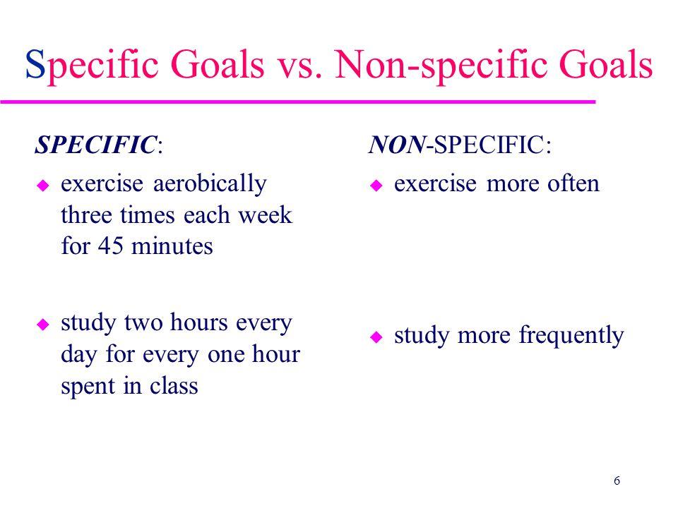 Specific Goals vs.