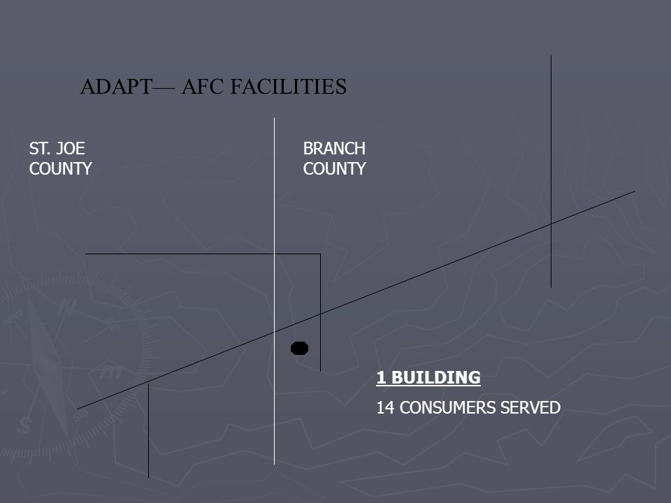 ADAPT— AFC FACILITIES ST. JOE COUNTY BRANCH COUNTY 1 BUILDING 14 CONSUMERS SERVED