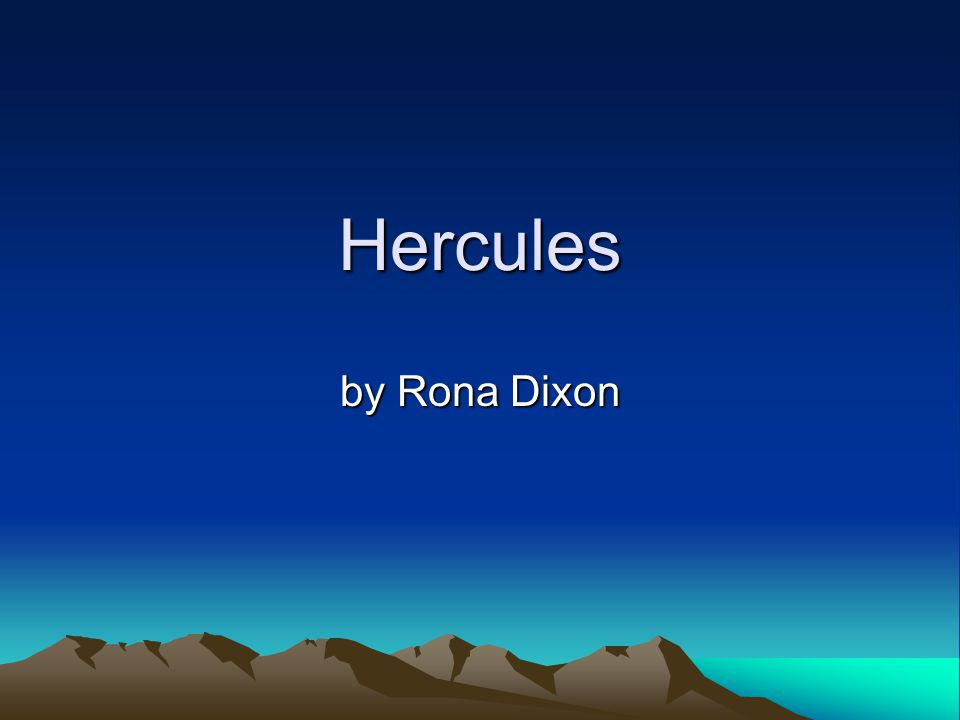 Hercules The goddess Hera caused much strife Caused Hercules to kill his wife His children also met this fate Whilst he was in an angry state.
