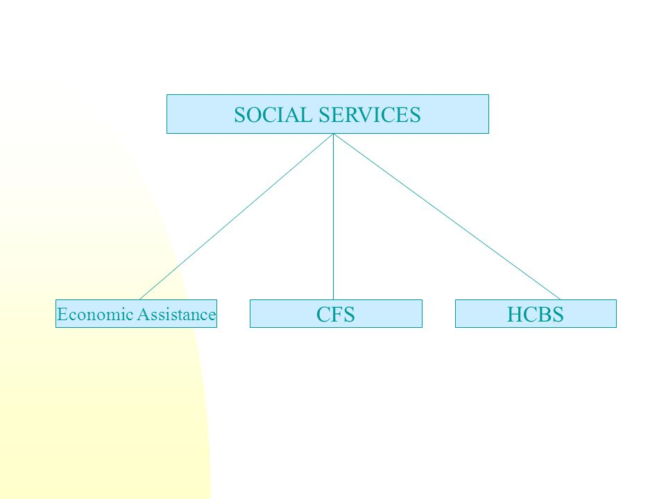 Economic Assistance CFSHCBS SOCIAL SERVICES