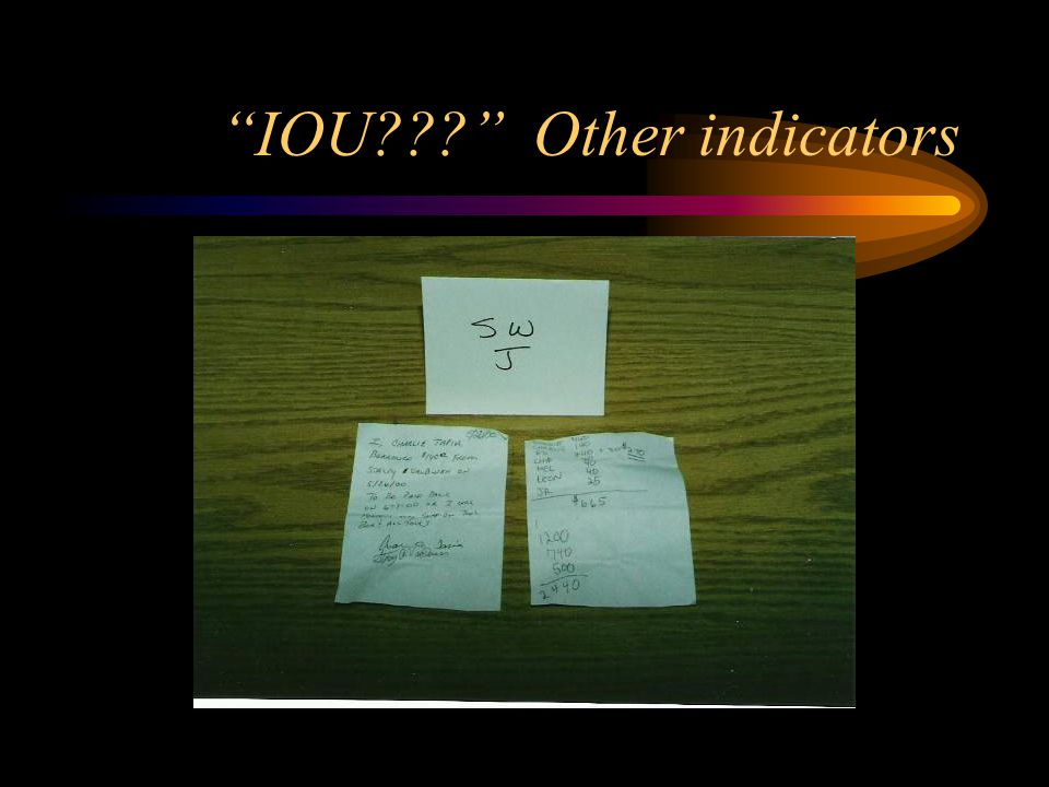 IOU Other indicators