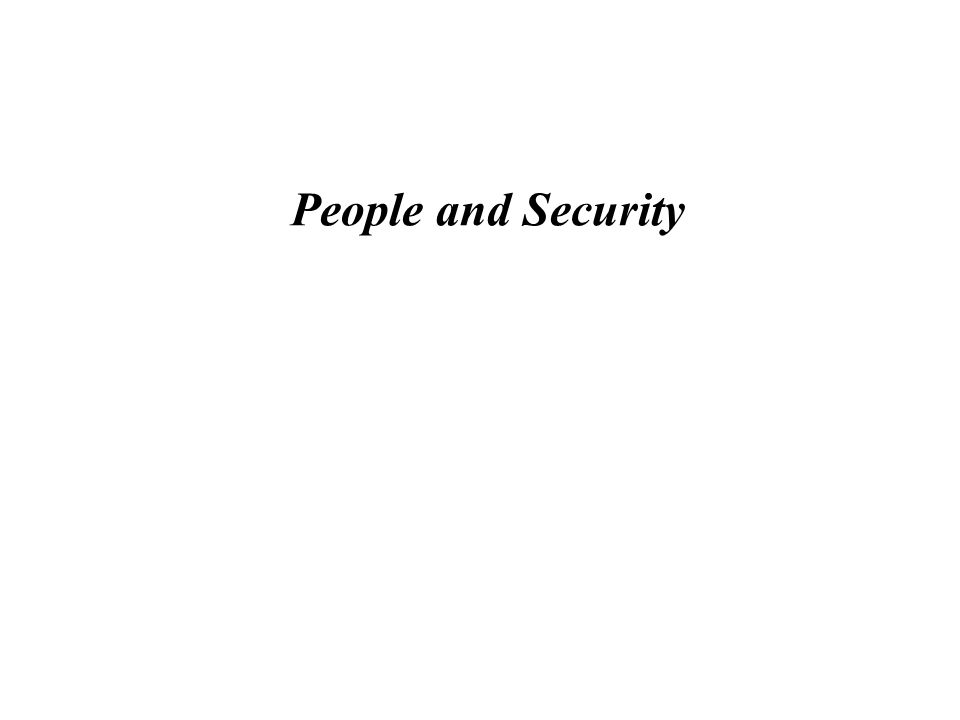People and Security