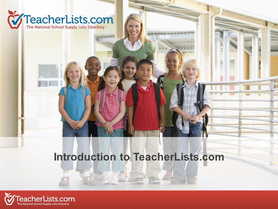 Introduction to TeacherLists.com