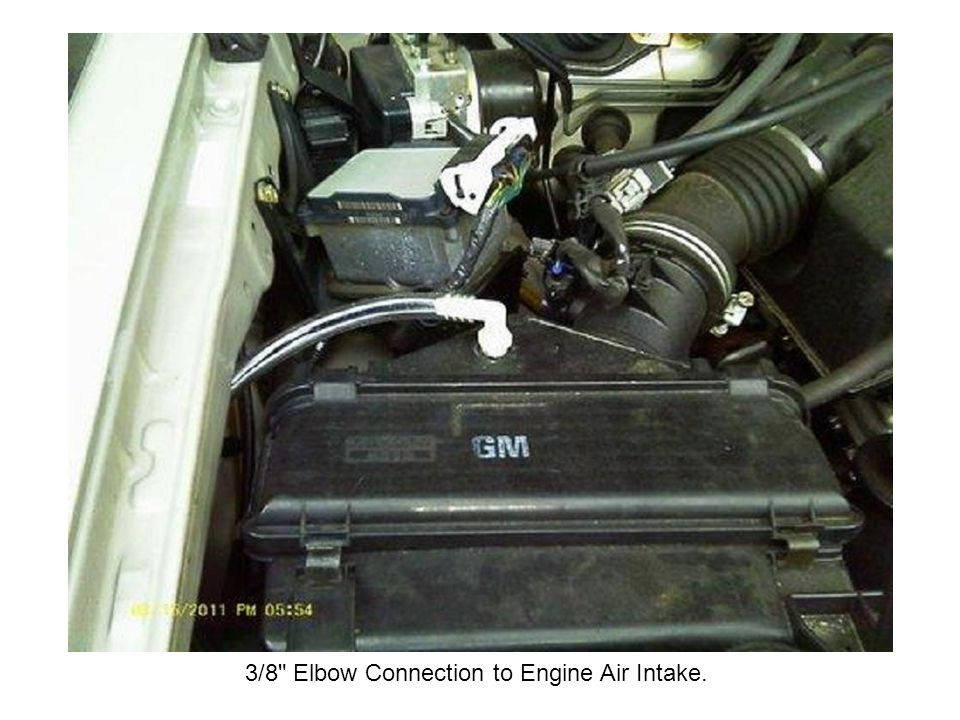 3/8 Elbow Connection to Engine Air Intake.