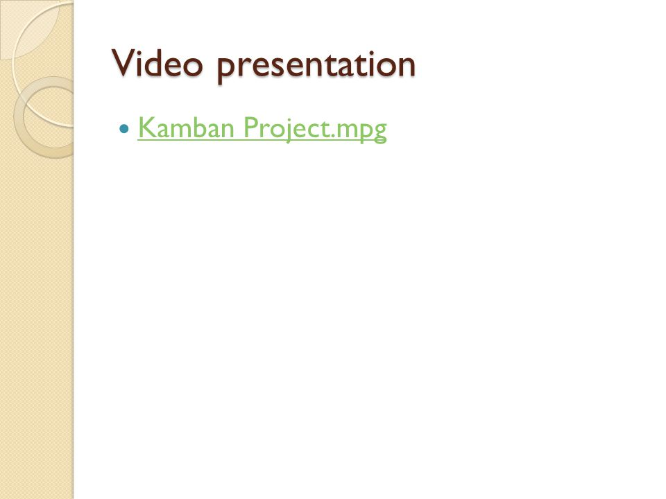 Video presentation Kamban Project.mpg