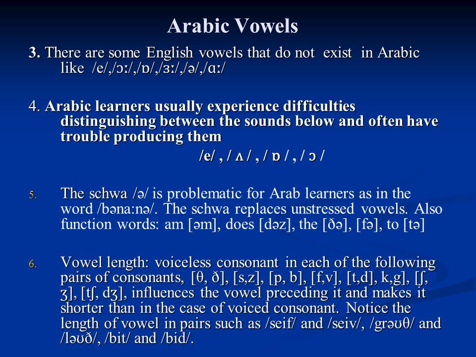 Arabic Vowels 3.