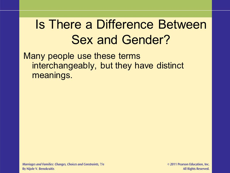 Is There a Difference Between Sex and Gender.