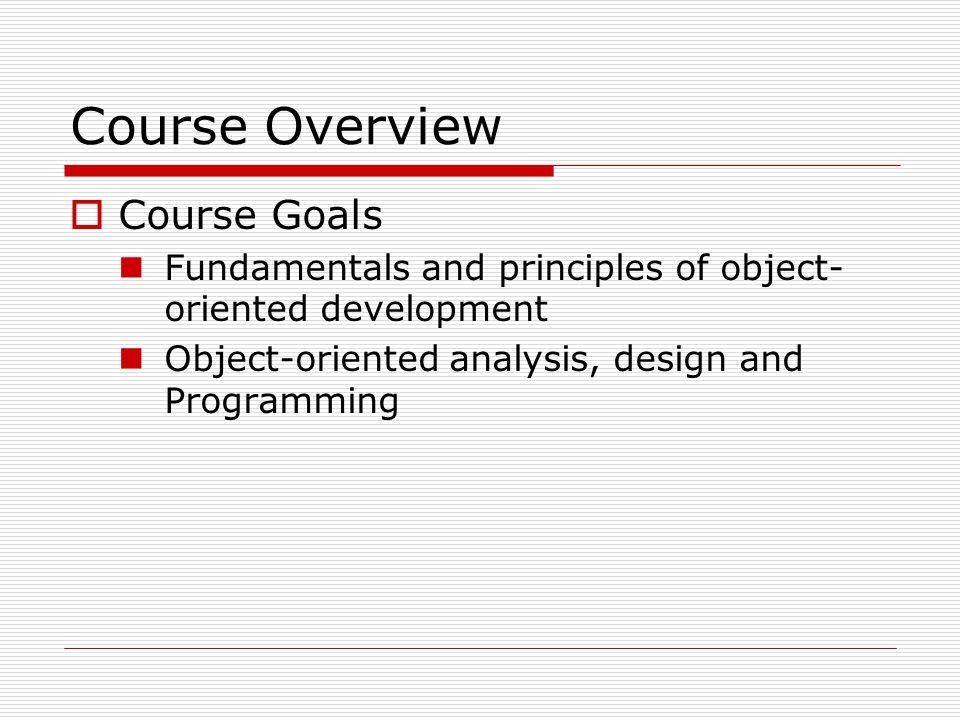 Principles of Object-Orientation  Principle 2.