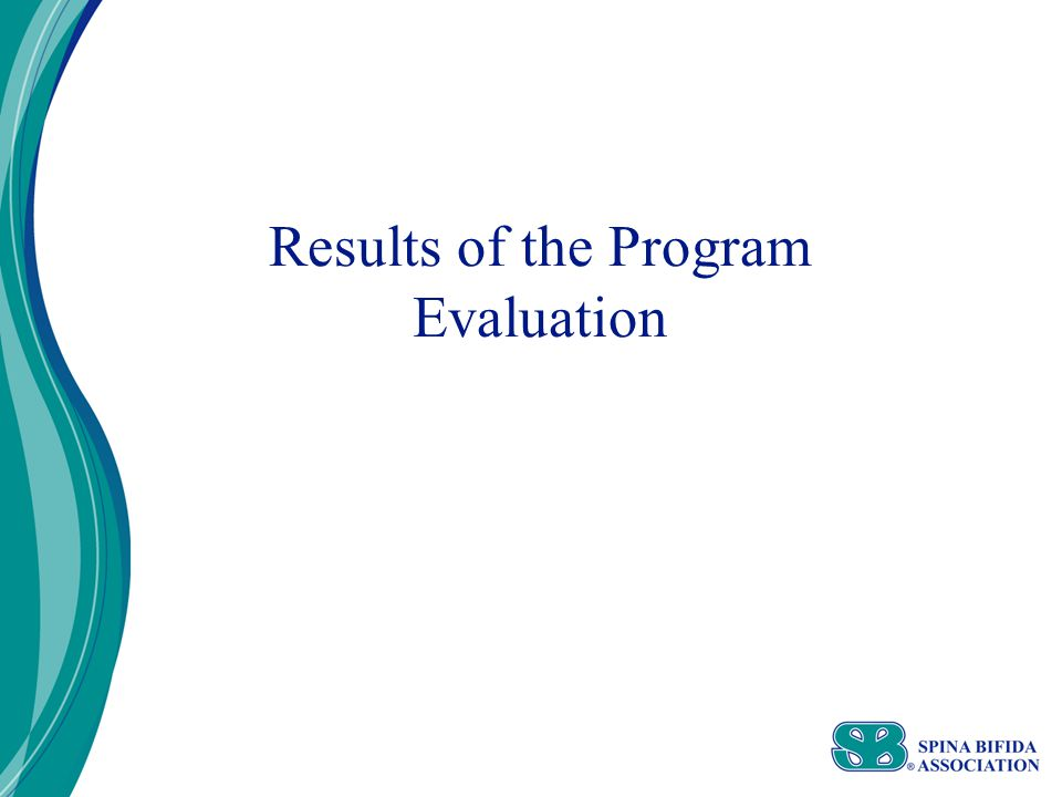 Results of the Program Evaluation