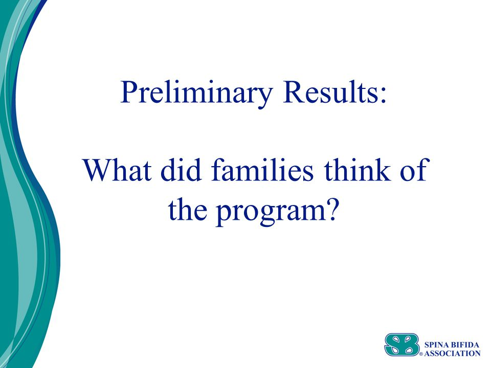 Preliminary Results: What did families think of the program