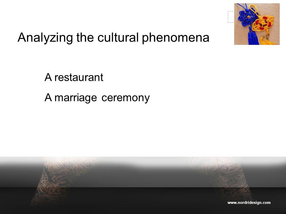 www.nordridesign.com LOGO Analyzing the cultural phenomena A restaurant A marriage ceremony