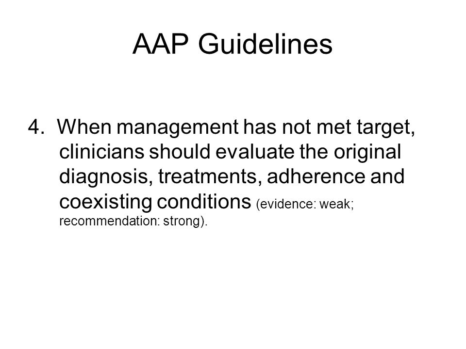 AAP Guidelines 4.