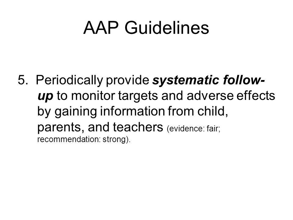 AAP Guidelines 5.