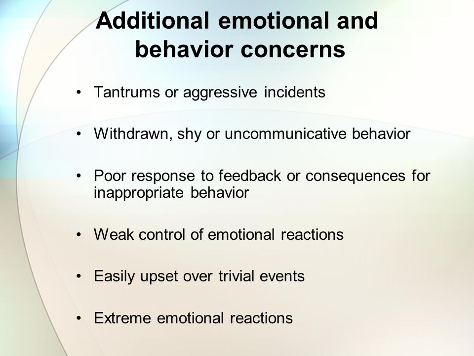 Behavioral Manifestation of ADHD in School Setting Inattentive, easily distracted Often talks excessively and interrupts others Difficulty paying atte