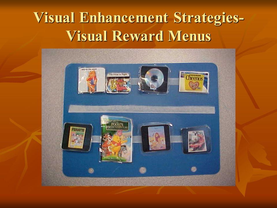 Visual Enhancement Strategies- Visual Reward Menus