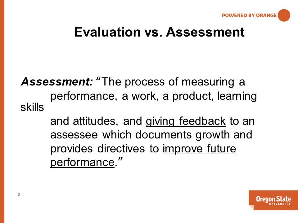Evaluation vs.