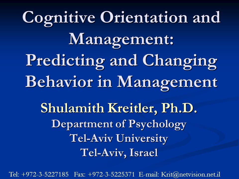 Shulamith Kreitler, Ph.D.