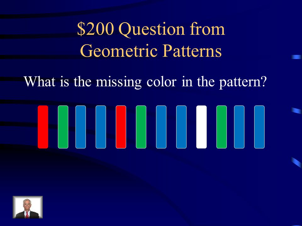 $100 Answer from Geometric Patterns (rectangle)