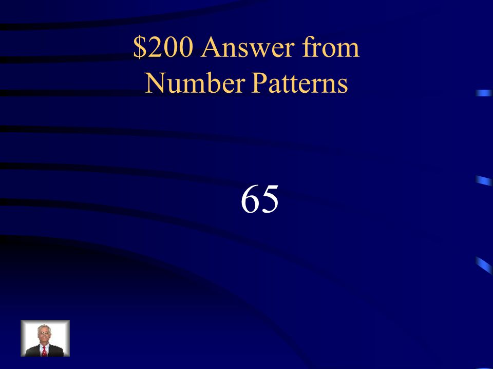 $200 Answer from Number Patterns 65
