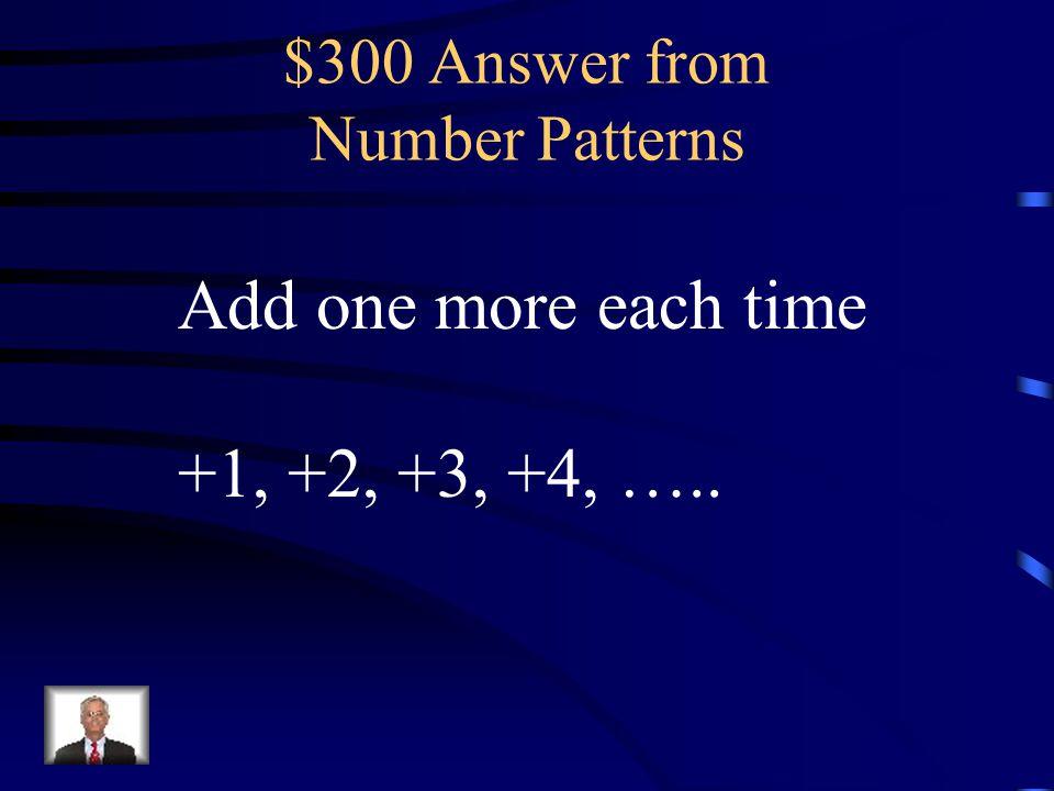 $300 Answer from Geometric Patterns ♦ (Diamond)