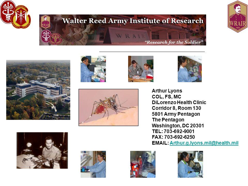 Arthur Lyons COL, FS, MC DiLorenzo Health Clinic Corridor 8, Room 130 5801 Army Pentagon The Pentagon Washington, DC 20301 TEL: 703-692-9001 FAX: 703-692-6250 EMAIL: Arthur.g.lyons.mil@health.milArthur.g.lyons.mil@health.mil
