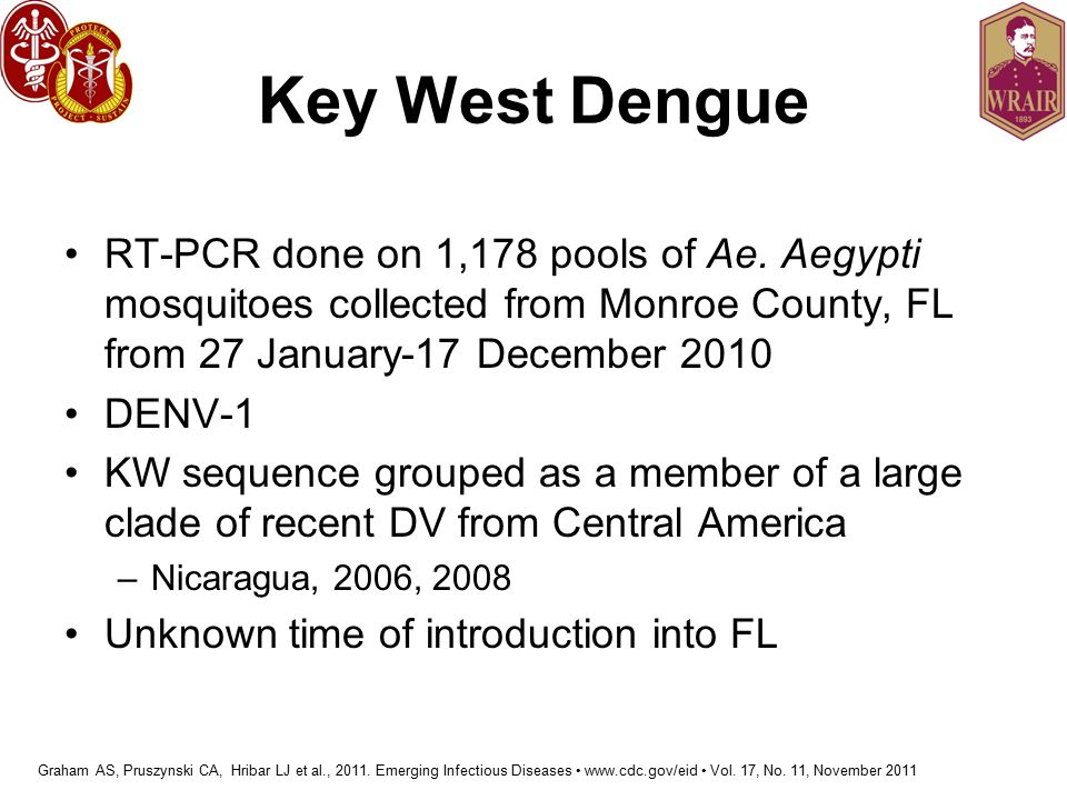 Key West Dengue RT-PCR done on 1,178 pools of Ae.
