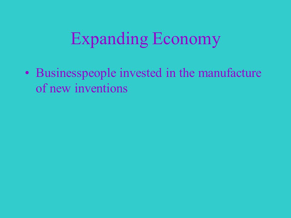 Expanding Economy Businesspeople invested in the manufacture of new inventions