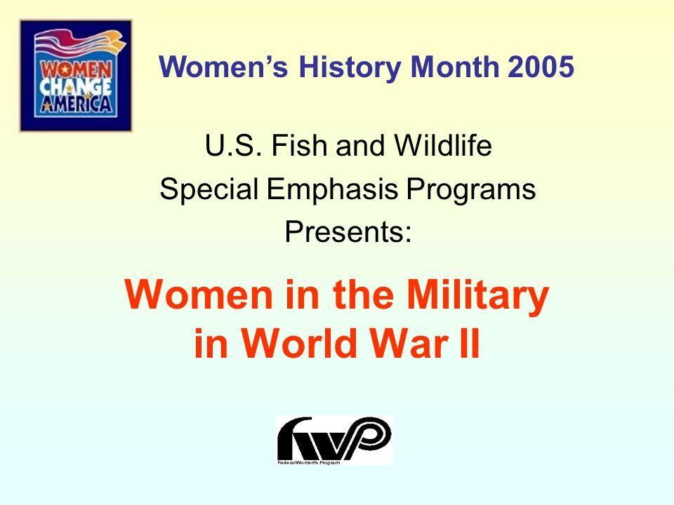 Women in the Military in World War II U.S.