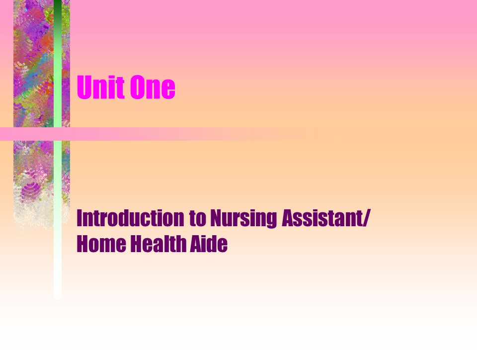 The Supervisor is responsible to: Orient home health aide to client and care plan Instruct home health aide regarding specific duties related to client care Instructs home health aide on new procedures Instructs HHA regarding information to be recorded and reported Instructs HHA on limitations of duties Provides HHA with annual performance evaluation