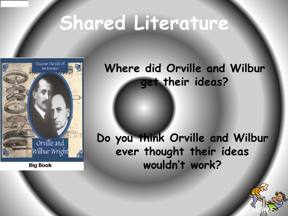 HOME Shared Literature Where did Orville and Wilbur get their ideas.