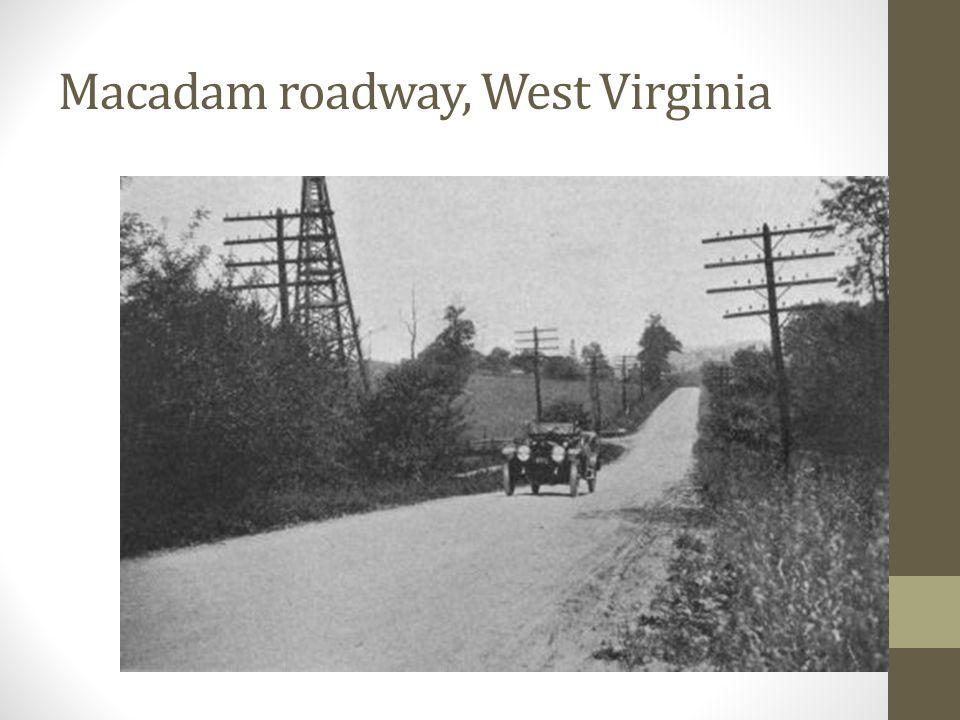 Macadam road in Venezuela early 1900s
