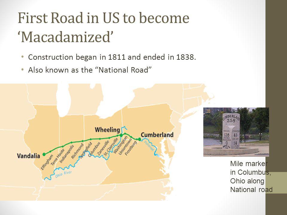 Macadam roadway, West Virginia