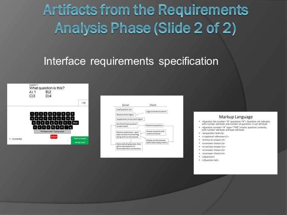 Interface requirements specification