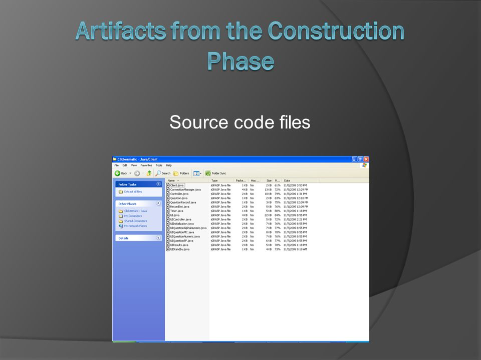 Source code files