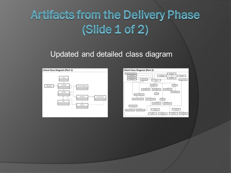 Updated and detailed class diagram
