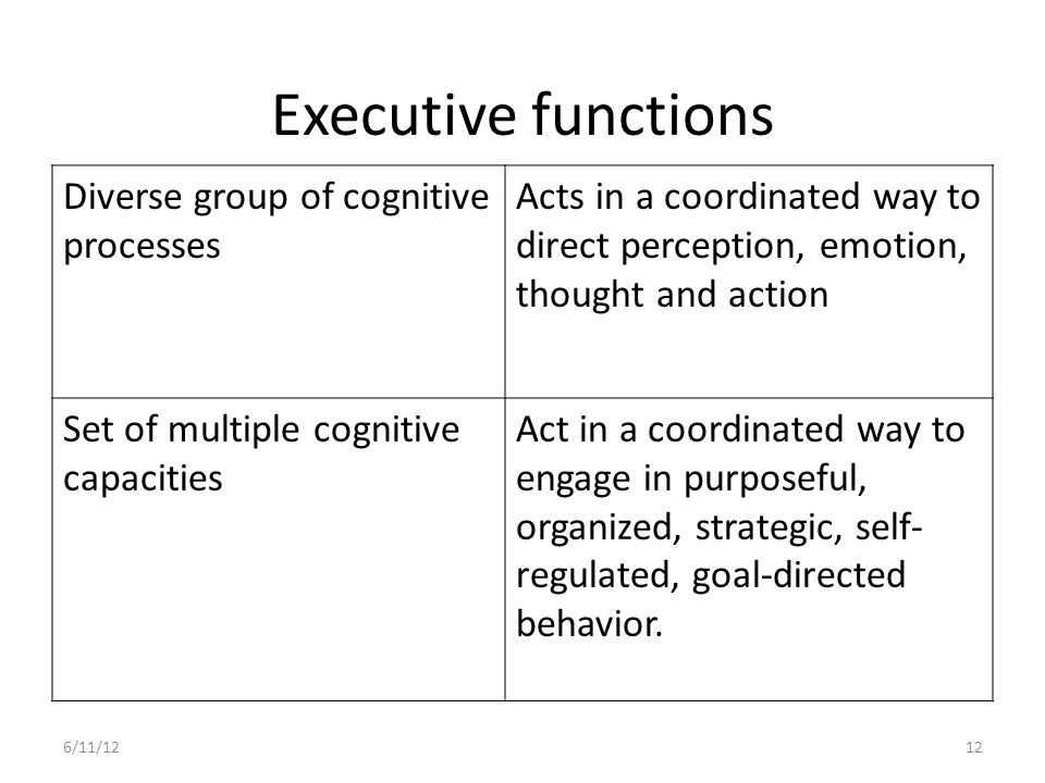 Development of EF Self-regulation executive functions are developing from the first years of life well into adulthood, and possibly throughout a person's entire lifetime.