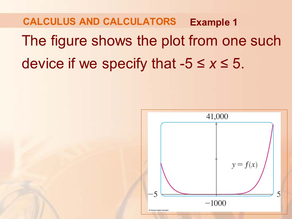 FAMILIES OF FUNCTIONS For c > 1, we calculate that and deduce that inflection points occur when Example 5