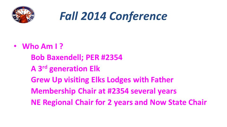 # 1 Challenge: Lapsation Fall Conference 2014