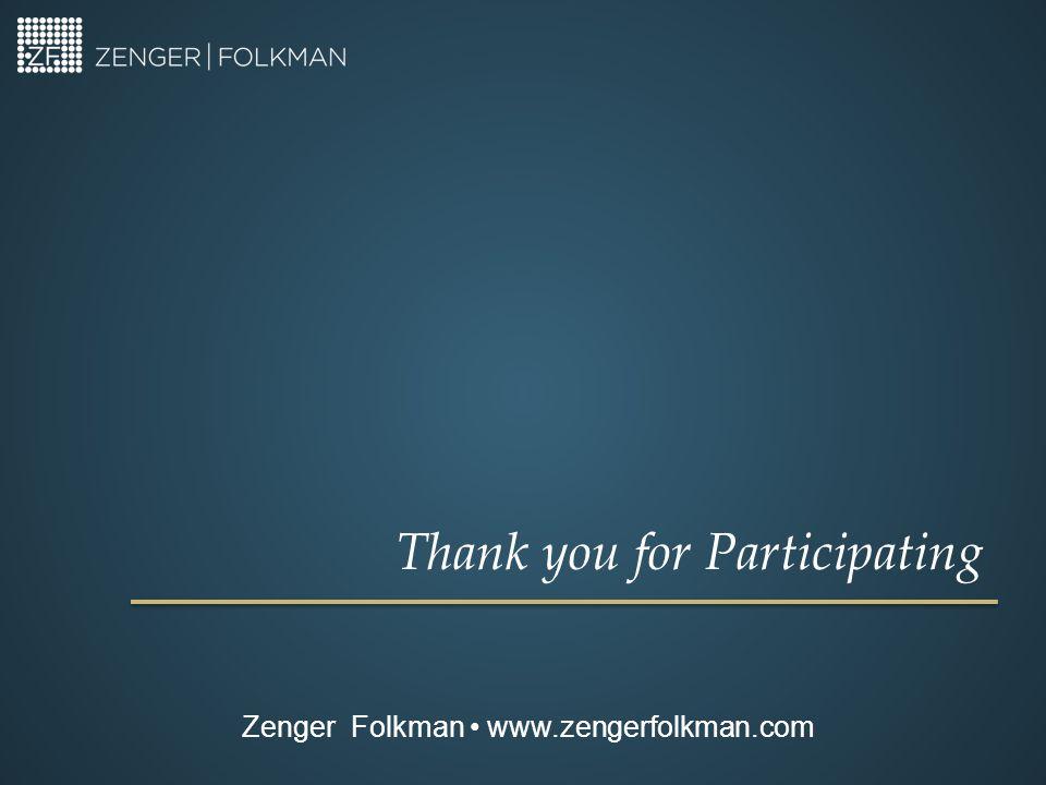 Thank you for Participating Zenger Folkman www.zengerfolkman.com