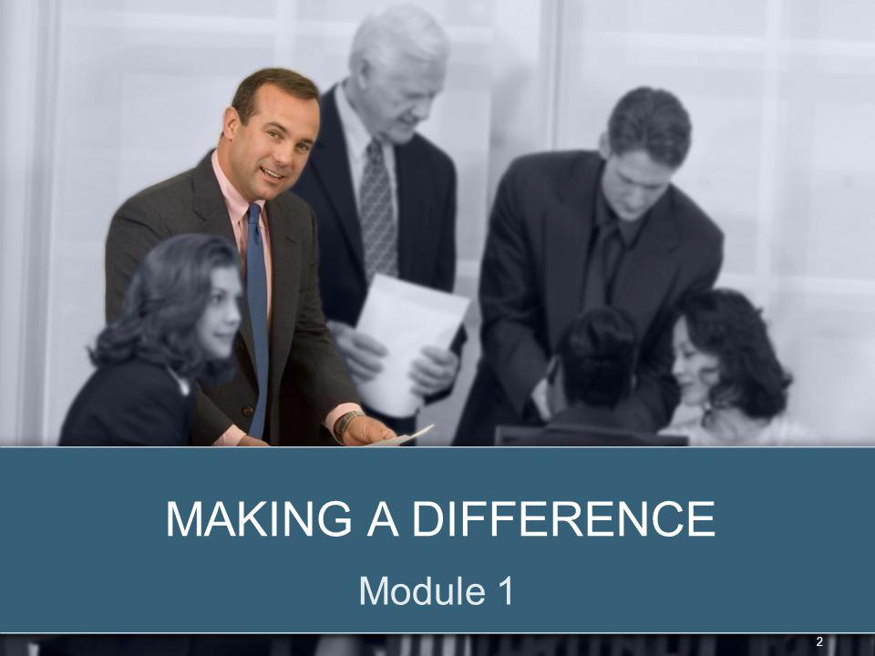© 2012 Zenger Folkman MAKING A DIFFERENCE Module 1 2