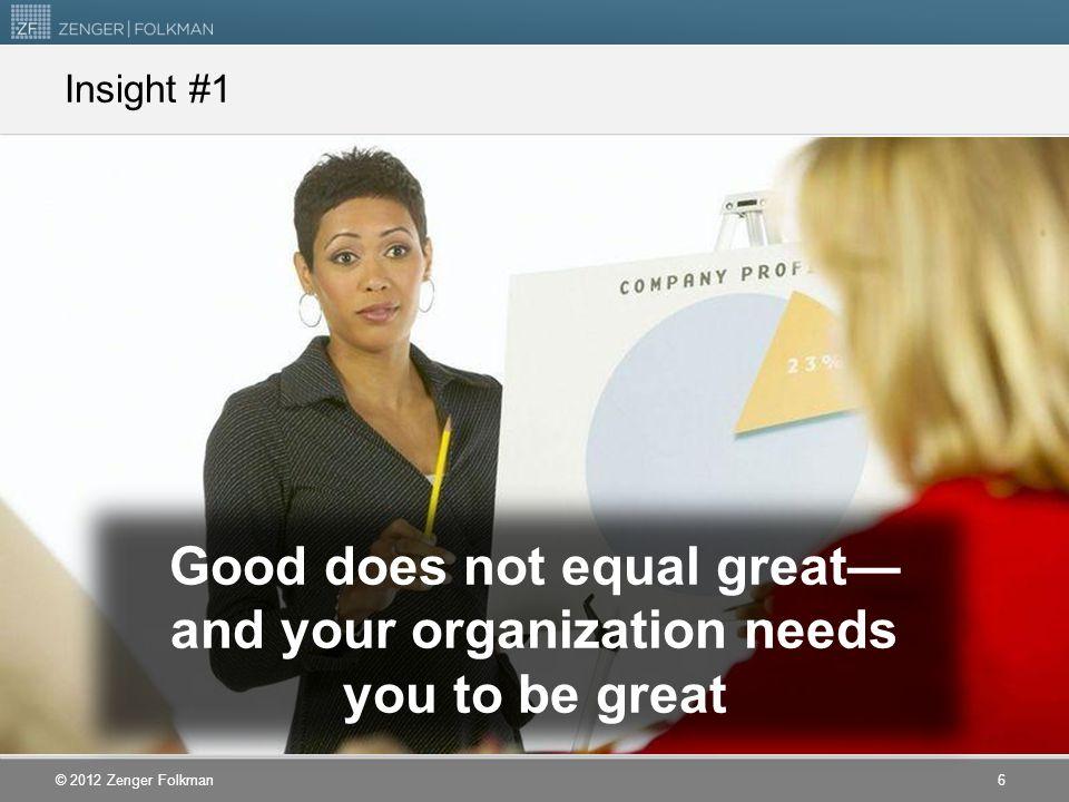 © 2012 Zenger Folkman Leadership vs.