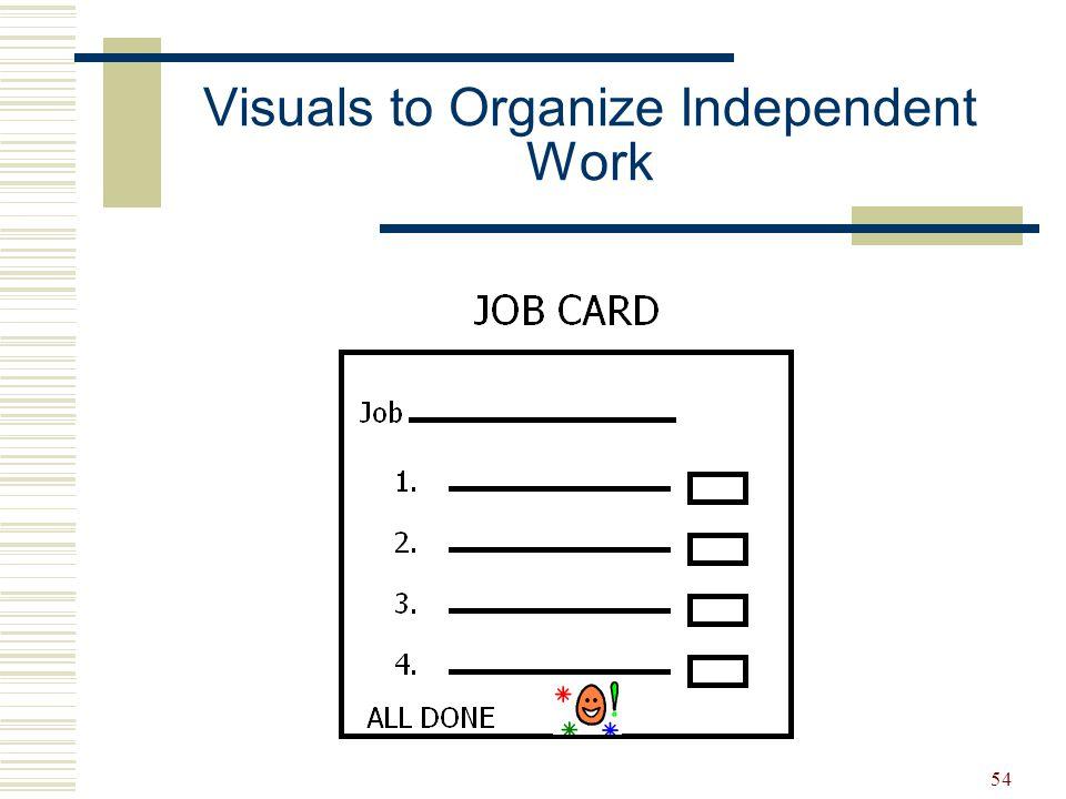 54 Visuals to Organize Independent Work