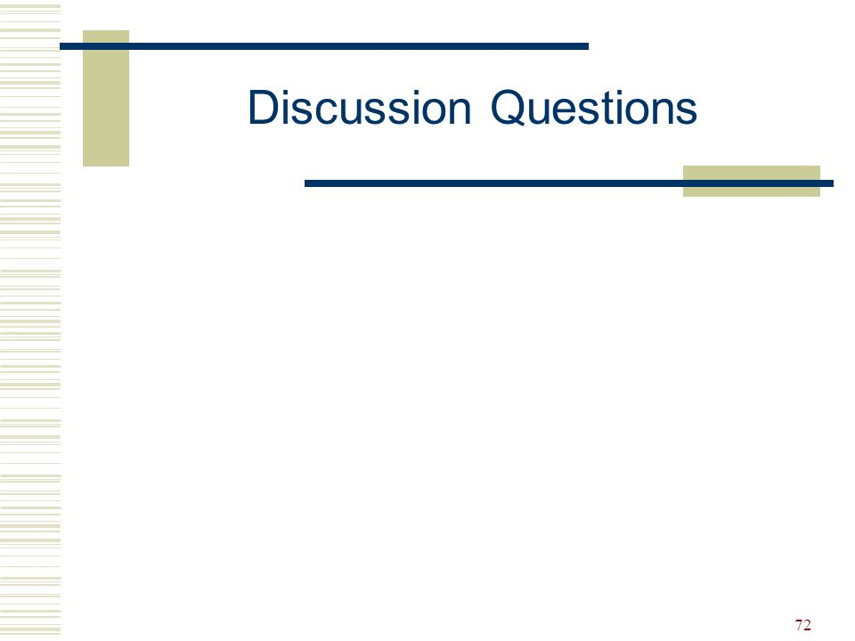 72 Discussion Questions
