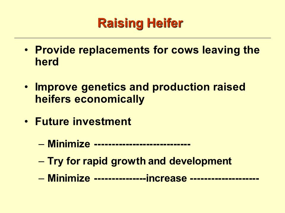 Calf and Heifer Nutrition Amin Ahmadzadeh Animal and Veterinary Science Department University of Idaho Other Sources: Dairy Cattle Science, 1st edition.