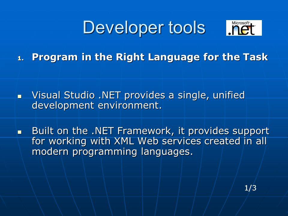 Developer tools 1.